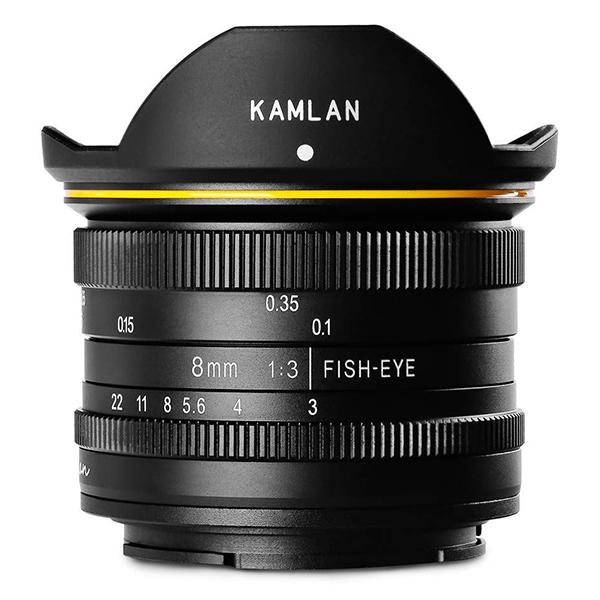 KAMLAN 8mm F3.0 (Canon-M) フィッシュアイ [超広角単焦点MFレンズ(キヤノンM)]