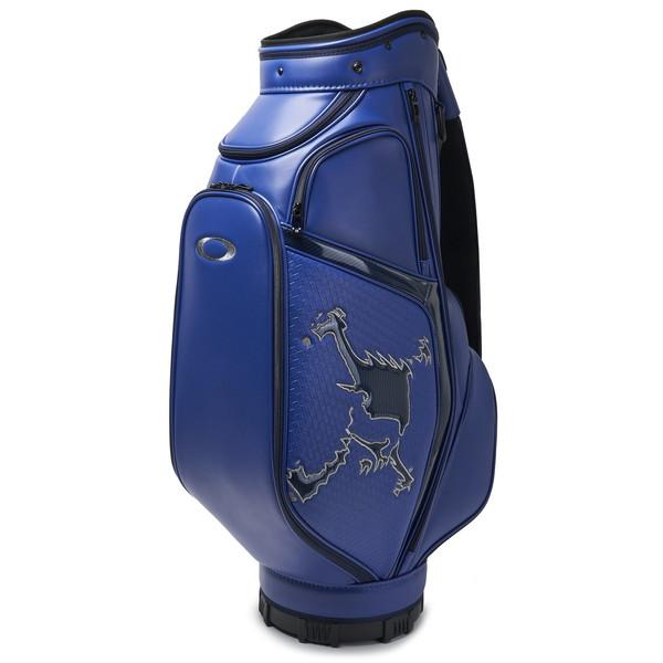 レザーを編み込んだような型押しPUを部分的に採用したSKULL GOLF BAG(9.5型、47inch対応)。 【日本正規品】 OAKLEY(オークリー) スカルキャディバッグ 13.0 921567JP-6FA FLASH BLUE(フラッシュブルー)