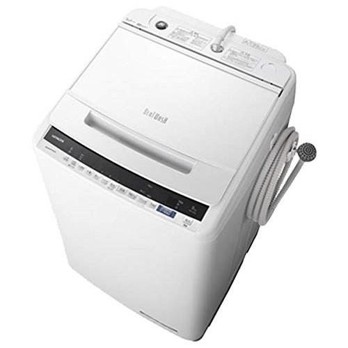 【送料無料】日立 BW-V80E(W) ホワイト ビートウォッシュ [全自動洗濯機(8.0kg)]
