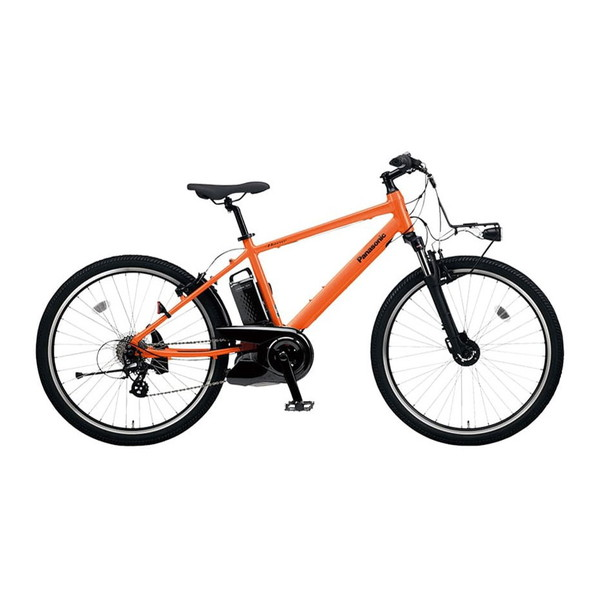 【送料無料】PANASONIC BE-ELH342K パールオレンジ ハリヤ [電動アシスト自転車(26インチ・外装7段)]【同梱配送不可】【代引き・後払い決済不可】【本州以外配送不可】
