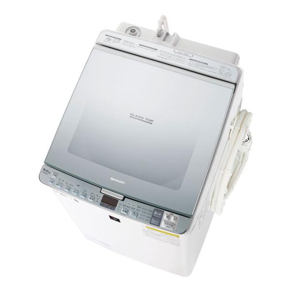【送料無料】SHARP ES-PX8D-S シルバー系 [洗濯乾燥機(8.0kg)]【代引き・後払い決済不可】