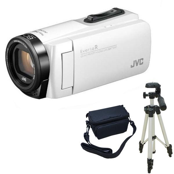 ビデオカメラ JVC GZ-R480-W シャインホワイト + KA-1100 三脚 & バッグ 付きおすすめセット 長時間録画 Everio R ( エブリオ ) 防水 旅行 卒業式 入学式 卒園 入園 結婚式 出産 成人式 小型 小さい