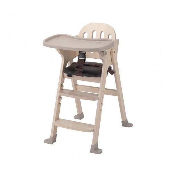 KATOJI 木製ハイチェア Easy-sit ホワイトウォッシュ ベビーチェア テーブルチェア 折りたたみ お食事 テーブル付き ベビー用品 カトージ スライド開閉式テーブル 4段階に高さ調節可能