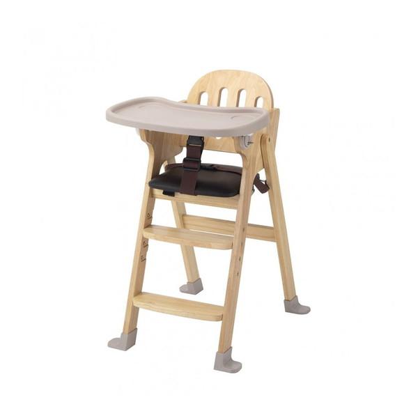 KATOJI 木製ハイチェア Easy-sit ナチュラル ベビーチェア テーブルチェア 折りたたみ お食事 テーブル付き ベビー用品 カトージ スライド開閉式テーブル 4段階に高さ調節可能