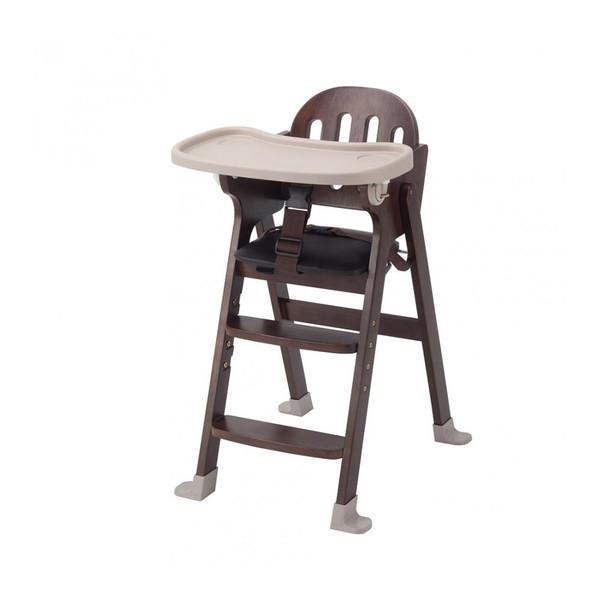 KATOJI 木製ハイチェア Easy-sit ブラウン ベビーチェア テーブルチェア 折りたたみ お食事 テーブル付き 赤ちゃん ベビー用品 カトージ スライド開閉式テーブル 4段階に高さ調節可能