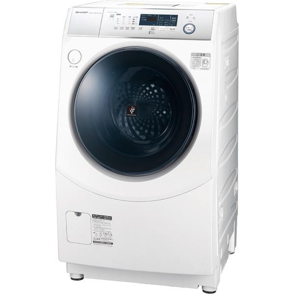 SHARP ES-H10D-WR ホワイト系 [ななめ型ドラム式洗濯乾燥機(10.0kg) 右開き]【代引き不可】