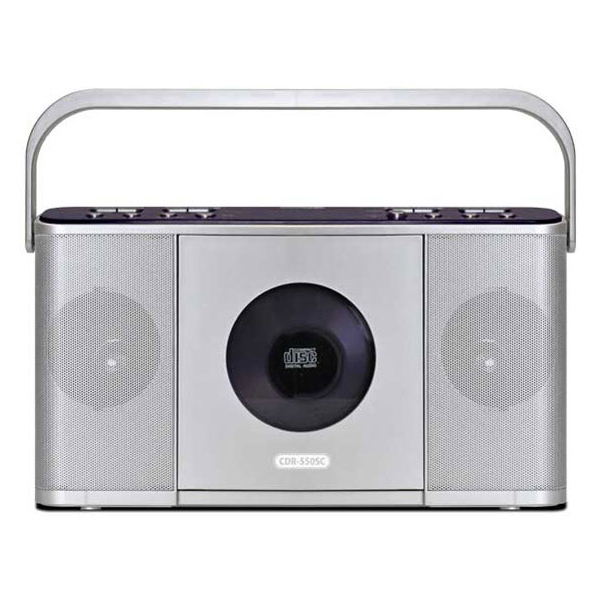 宅配便送料無料 語学学習やダンス 楽器の練習などにとっても便利です Bearmax ご注文で当日配送 CDR-550SC シルバー Manavy 遅聴きポータブルCDラジオ 速聴き