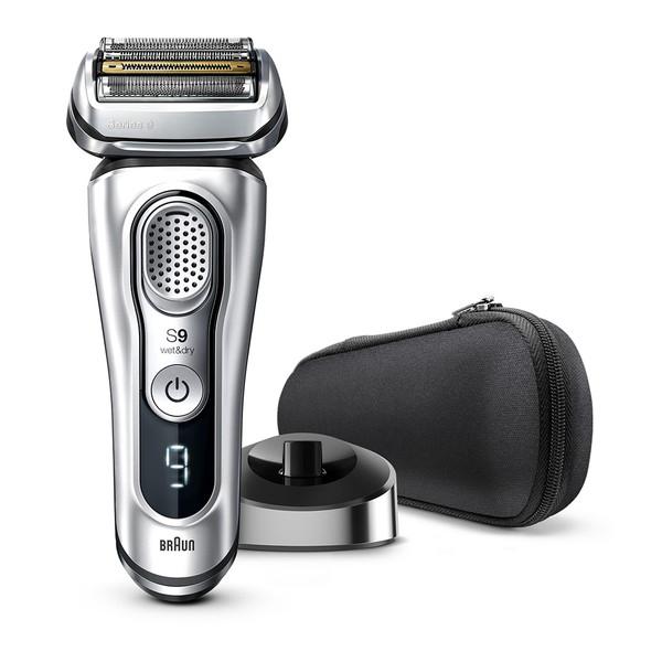 BRAUN ブラウン シリーズ9 メンズシェーバー 電気シェーバー 髭剃り 電気カミソリ ブラック メンズ 男性 新製品 往復式 4枚刃 充電式 水洗い 高速振動くせヒゲトリマー 音波振動テクノロジー 9345s