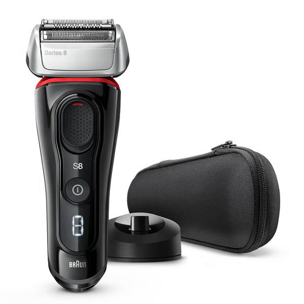 BRAUN ブラウン シリーズ8 髭剃り メンズシェーバー 電気シェーバー 電気カミソリ ブラック メンズ 男性 新製品 往復式 3枚刃 充電式 水洗い 高速振動くせヒゲトリマー 音波振動テクノロジー 8320s