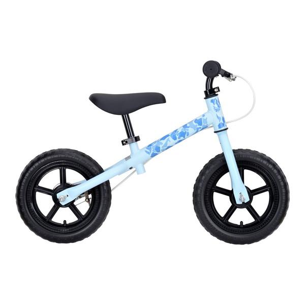 CAPTAIN STAG YG-1209 キャンプアウトトレーニングバイク(ブルーカモ) 18 足けり 足蹴り 足こぎ 乗り物 玩具 子供用