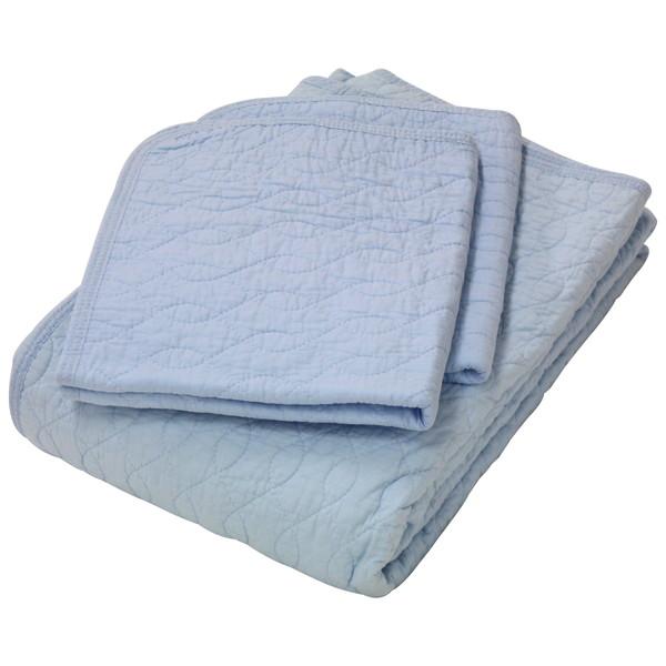 京都西川 敷きパッドと枕パッドのセット 5TN-CK183-F ブルー ファミリー