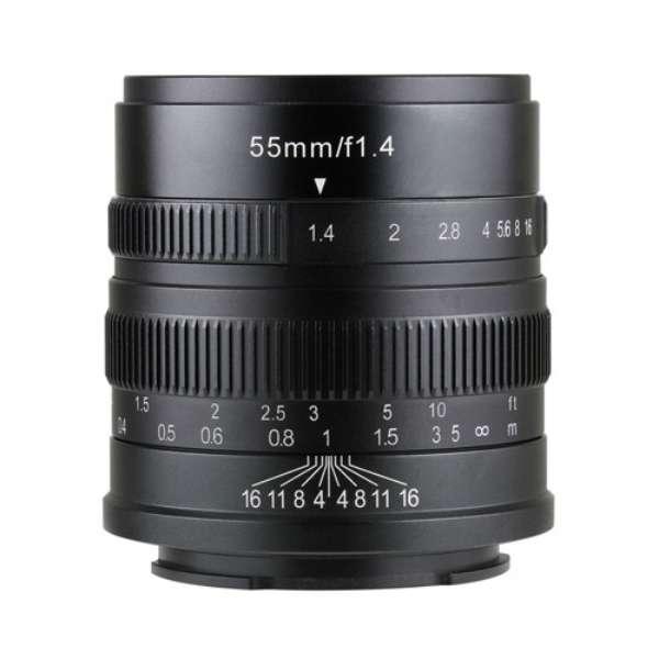 七工匠 7Artisans 55mm F1.4 ブラック ソニーE (APS-C) [交換レンズ]