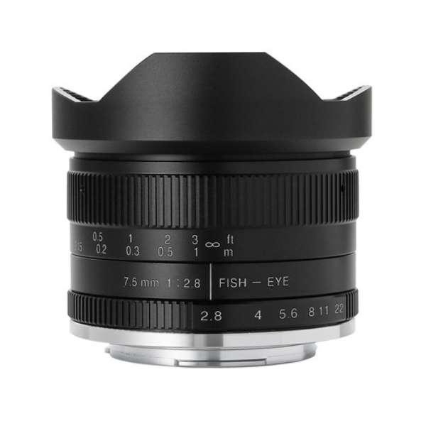 七工匠 7Artisans 7.5mm F2.8 Fish-eye II ブラック キヤノンEF-M [交換レンズ]