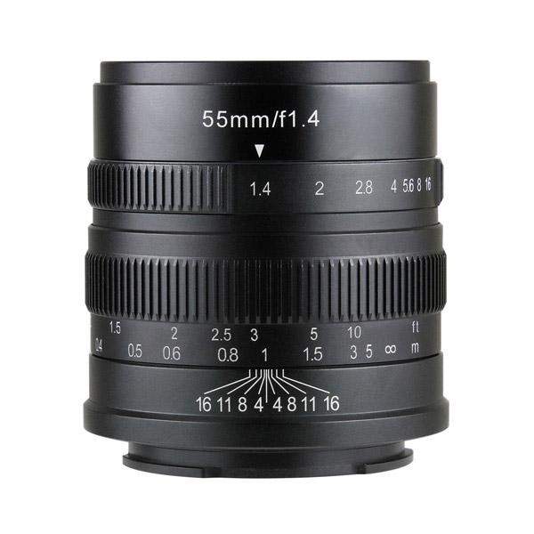 七工匠 7Artisans 55mm F1.4 ブラック ライカL(バヨネット) [交換レンズ]