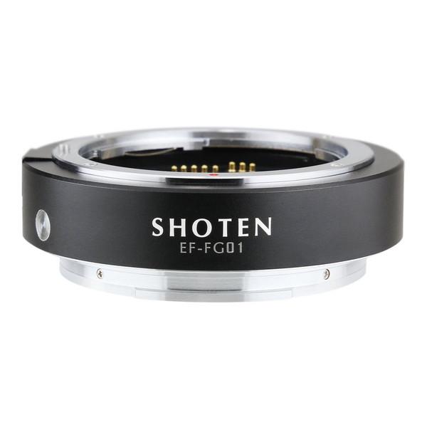 SHOTEN EF-FG01 ブラック [マウントアダプター(キヤノンEFマウントレンズ → 富士フイルムGマウント変換) 電子接点付き]