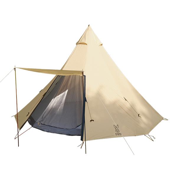 DOD T8-200T ベージュ [ビッグワンポールテント] アウトドア キャンプ レジャー フェス ※2019年9月変更の新仕様版