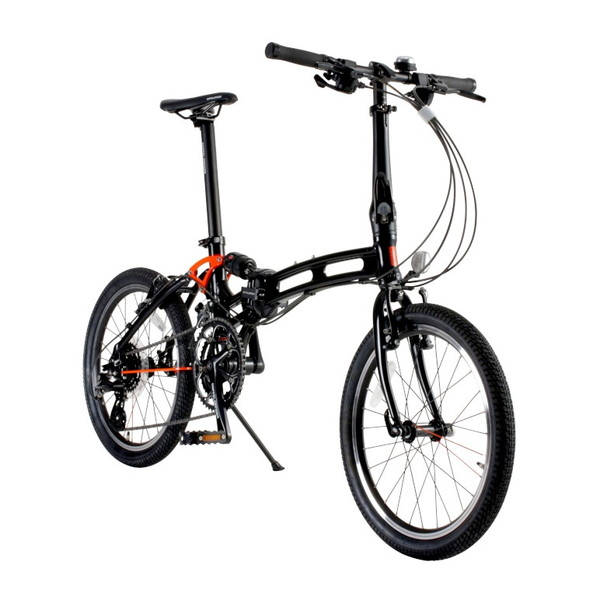 DOPPELGANGER 215-X-DP ブラック [小径折りたたみ自転車(20インチ・8段変速)]【同梱配送不可】【代引き・後払い決済不可】【沖縄・離島配送不可】