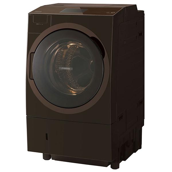 東芝 TW-127X8L(T) グレインブラウン ZABOON [ドラム式洗濯乾燥機 (洗濯12.0kg/乾燥7.0kg) 左開き]【代引き不可】