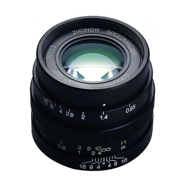 中一工学 SPEEDMASTER 0.95/25mm (MFT) BK ブラック [単焦点レンズ(マイクロフォーサーズ)]