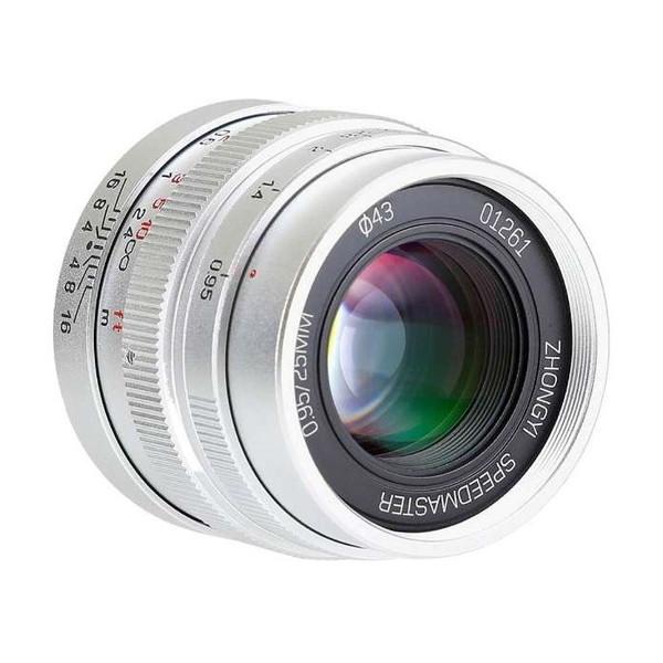 中一工学 SPEEDMASTER 0.95/25mm (MFT) SV シルバー [単焦点レンズ(マイクロフォーサーズ)]