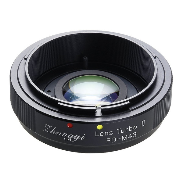中一工学 Lens Turbo II FD-m43 [フォーカルレデューサー マウントアダプター(キヤノンFDマウントレンズ → マイクロフォーサーズマウント)]