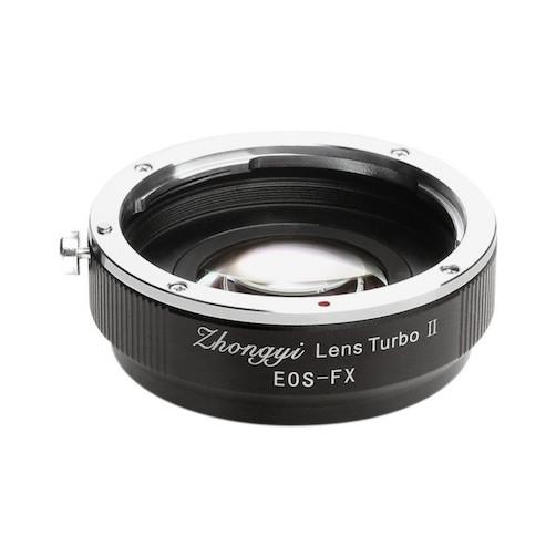 中一工学 Lens Turbo II EF-FX [フォーカルレデューサー マウントアダプター(キヤノンEFマウントレンズ → 富士フイルムXマウント)]