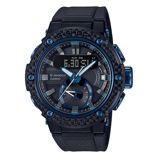 CASIO(カシオ) GST-B200X-1A2JF ブラック×ブルー G-SHOCK G-STEEL [ソーラー腕時計(メンズウォッチ)]