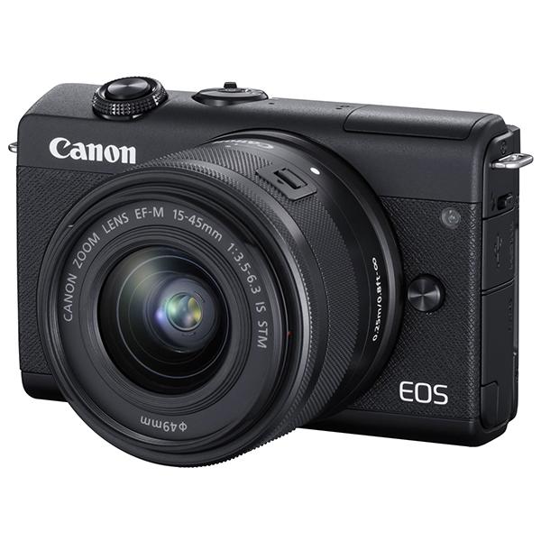 CANON EOS M200 EF-M15-45 IS STM レンズキット ブラック [ミラーレス一眼カメラ(2410万画素)]