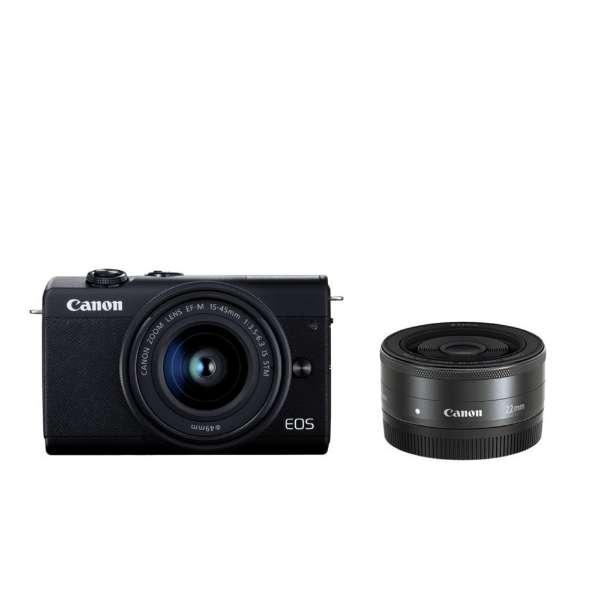 CANON EOS M200 ダブルレンズキット ブラック [ミラーレス一眼カメラ(2410万画素)]