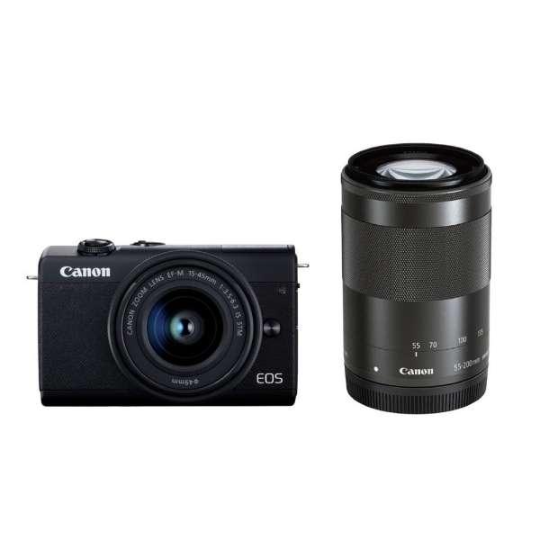 CANON EOS M200 ダブルズームキット ブラック [ミラーレス一眼カメラ(2410万画素)]