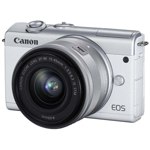 CANON EOS M200 EF-M15-45 IS STM レンズキット ホワイト [ミラーレス一眼カメラ(2410万画素)]