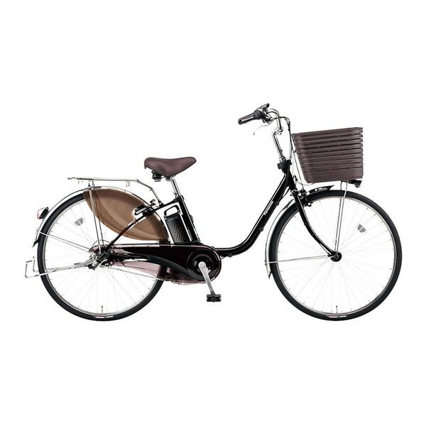 PANASONIC BE-ELD436-B ピュアブラック ビビ・DX [電動アシスト自転車(24インチ・内装3段)]【同梱配送不可】【代引き・後払い決済不可】【本州以外配送不可】