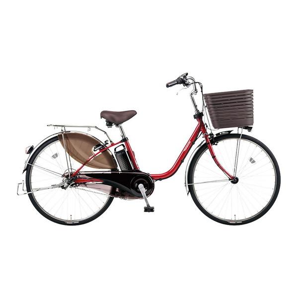 PANASONIC BE-ELD436-R フレアレッドパール ビビ・DX [電動アシスト自転車(24インチ・内装3段)] メーカー直送