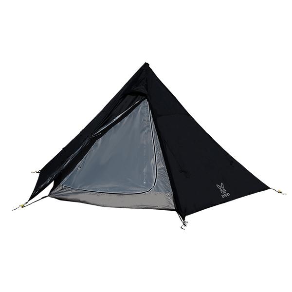 DOD T5-47-BK ブラック [ワンポールテントM] アウトドア キャンプ レジャー BBQ バーベキュー 2019年10月新仕様版
