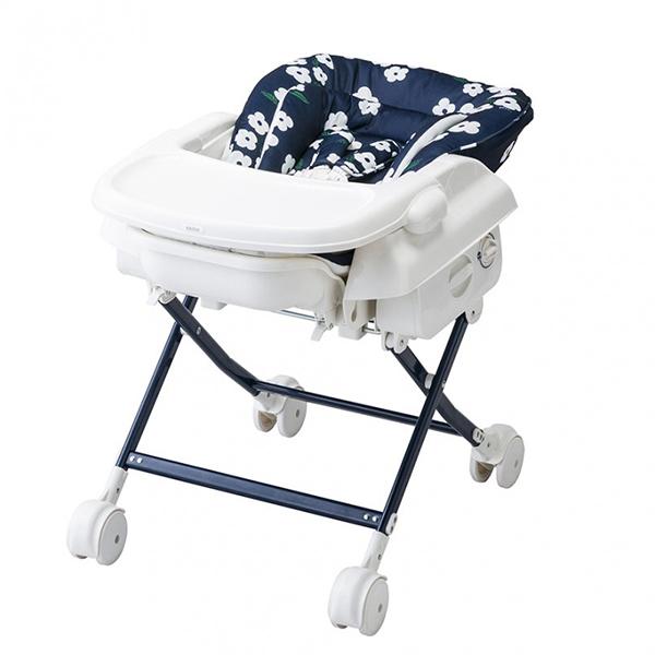 KATOJI スイングハイローラック プルーン 白い花 カトージ ハイローチェア バウンサー リクライニング ラック ベビーチェア 子供用 チェア イス いす 椅子 赤ちゃん 安全ベルト ハイチェア 子供用椅子
