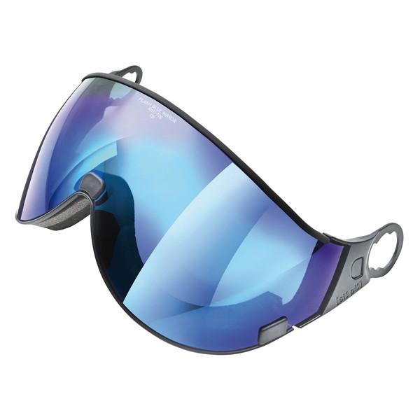 EVERNEW CPC1942 CP flash blue mirror 1.6 [ウィンタースポーツ用ヘルメット 交換用バイザーミラーレンズ]