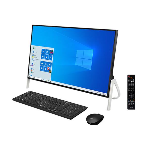 富士通 FMVF77D3B ブラック FMV ESPRIMO [デスクトップパソコン 23.8型 / Win 10 Home / ブルーレイドライブ / Office搭載]