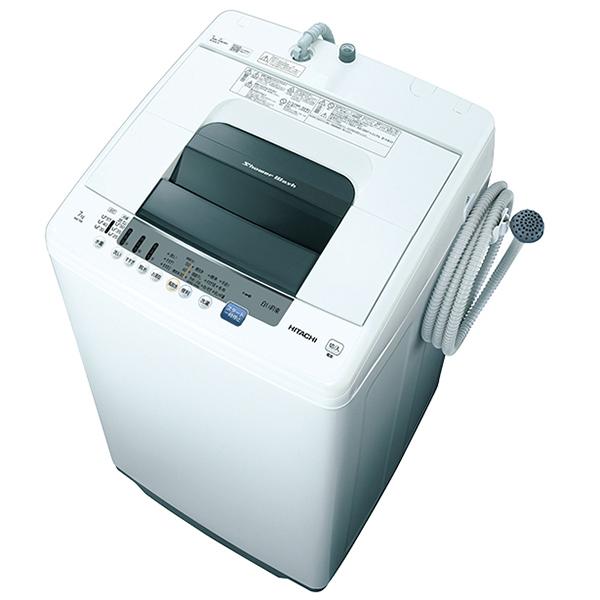 日立 NW-70E ピュアホワイト シャワー浸透洗浄 白い約束 [簡易乾燥機能付洗濯機(7kg)]