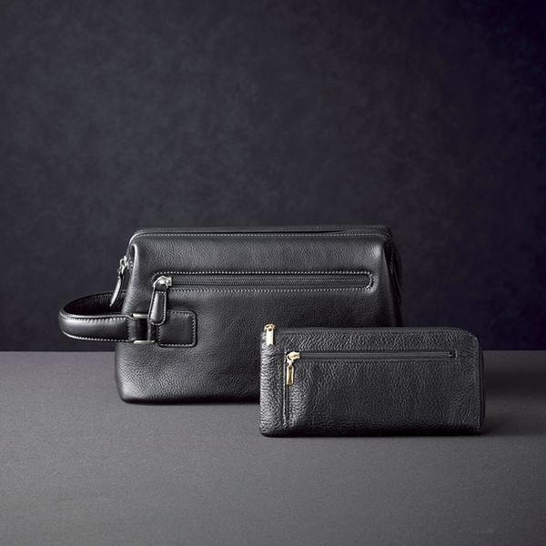 日本製牛革ダレスポーチ&財布セット B70-200B
