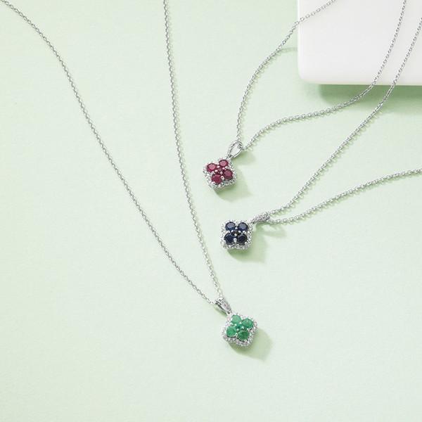 三大宝石ジュエリーペンダント(エメラルド) 14013