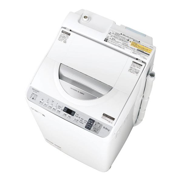 SHARP ES-TX5D シルバー系 [タテ型洗濯乾燥機(5.5kg)]
