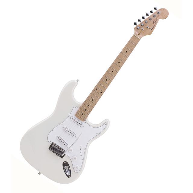 【送料無料】PhotoGenic エレキギター ホワイト ST-180M