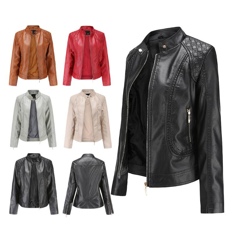 Men Leather Jacket Coat Motorcycle Biker Slim Fit Outwear Jackets T1111