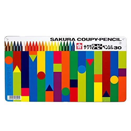 有名な セール中 サクラクレパス 色鉛筆 クーピー 30色 日本メーカー新品 缶ケース入り FY30
