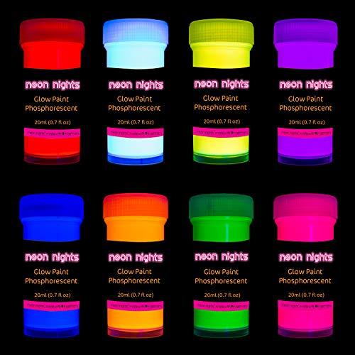 セール中 在庫一掃 新色 neon nights 畜光 発光 8個入り 燐光 - 自己発光塗料