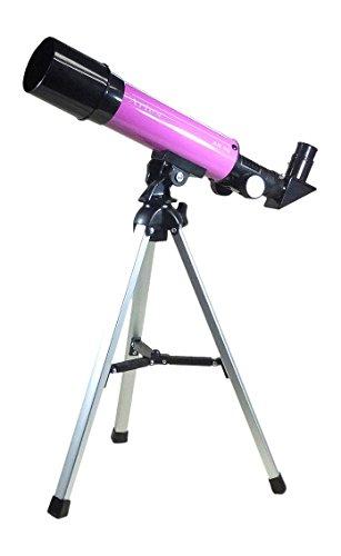 セール中 MIZAR ミザールテック 天体望遠鏡 屈折式 評価 送料無料でお届けします 50mm 口径 セット AR-50PK 経緯台 三脚 コンパクトタイプ ピンク