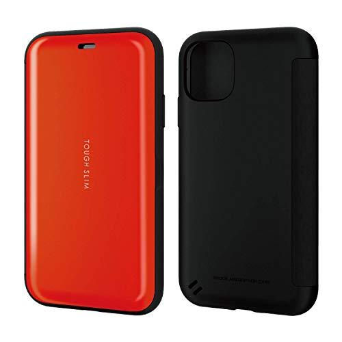 セール中 エレコム iPhone 11 ケース 耐衝撃×薄軽 画面を守るシェルフラップタイプ 割引も実施中 正規取扱店 レッド TOUGH SLIM PM-A19CTSSRD