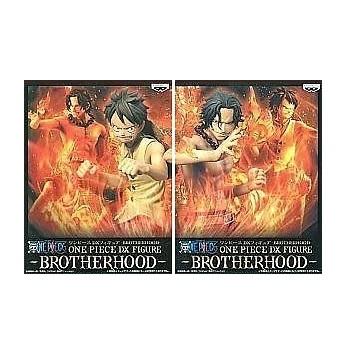 【中古】ワンピース DX フィギュア BROTHERHOOD ルフィ、エース 2点セット