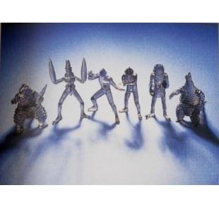 【中古】HGシリーズ ウルトラマン1 ガシャポン ブラッククリアバージョン 希少限定品 全6種