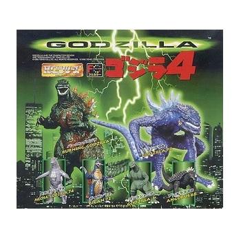【中古】ゴジラ4 HGシリーズ ガシャポン 全6種